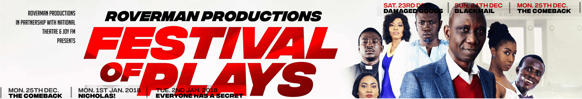 Roverman Productions: Festival of Plays
