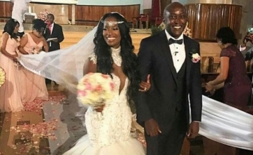 U.S. star's dance at her Kenyan wedding lights up social media