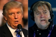 President Donald Trump and Steve Bannon