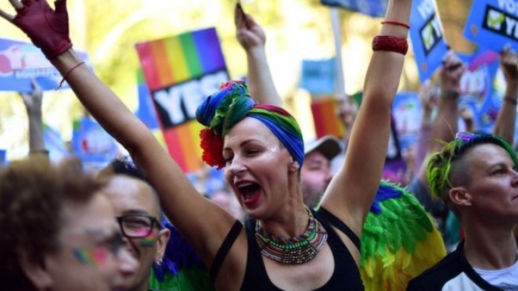 Same-sex marriage supporters rally in Sydney on Sunday