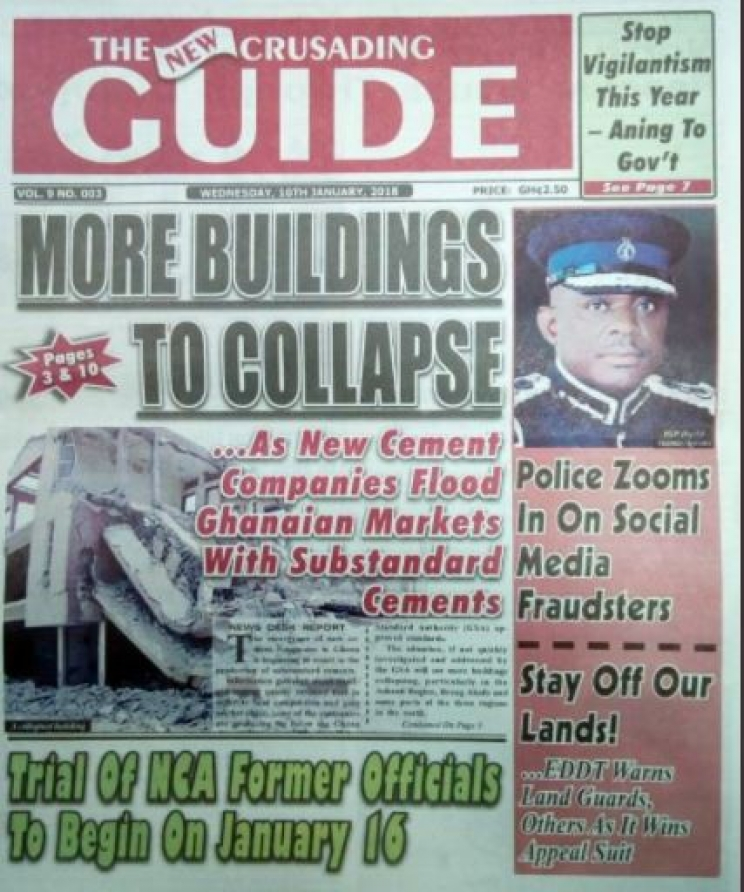 Crusading Guide 10th January