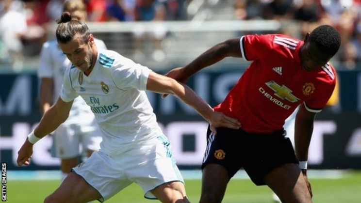 Gareth Bale's Real Madrid faced Manchester United in a pre-season friendly in California this month