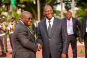 President Akufo-Addo with His Excellency Alassane Ouattara President of the Republic of Cote d'Ivoir